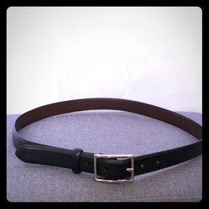 EUC Coach Black leather belt Ladies size Large